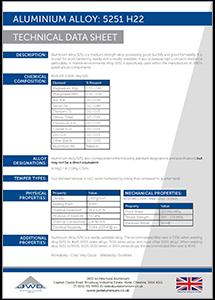 JWD Aluminium Alloy 5251 H22 datasheet