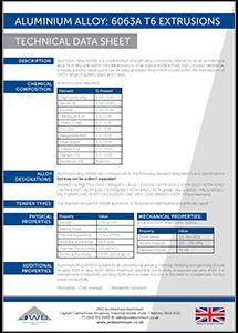 JWD Aluminium Alloy 6063A T6 Extrusions datasheet