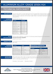 JWD Aluminium Alloy Grade 1050A H14 datasheet