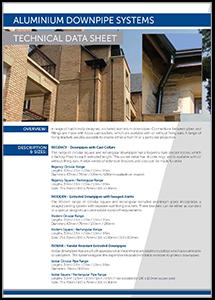 JWD Aluminium Downpipe Systems datasheet