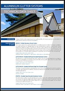 JWD Aluminium Gutter Systems datasheet