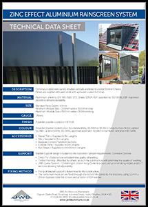 JWD Zinc Effect Aluminium Rainscreen System